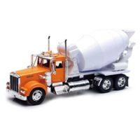 New-Ray Kenworth W900 Cement Mixer in Orange