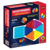 Magformers® 14-Piece Rainbow Opaque Solid Set