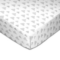 Living Textiles Grey Clouds Fitted Crib Sheet