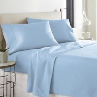 Pointehaven Printed 300-Thread-Count Deep-Pocket Twin Sheet Set in Blue