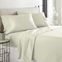 Pointehaven Printed 300-Thread-Count Deep-Pocket California King Sheet Set in Bone