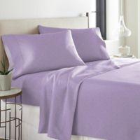 Pointehaven Printed 300-Thread-Count Deep-Pocket Queen Sheet Set in Lavender