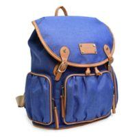 Adrienne Vitttadini Two-Tone Rugged Backpack in Denim