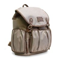 Adrienne Vitttadini Two-Tone Rugged Backpack in Natural