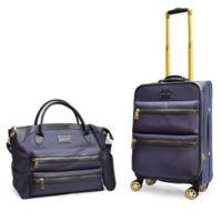 Adrienne Vittadini 2-Piece Nylon Luggage Set in Denim