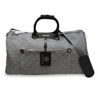 Adrienne Vittadini Double Quilted Duffle Bag in Grey