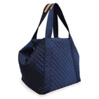 Adrienne Vittadini Quilted Yoga Tote in Navy