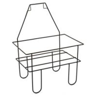 Metal Mini Shopping Crate Stand in Black