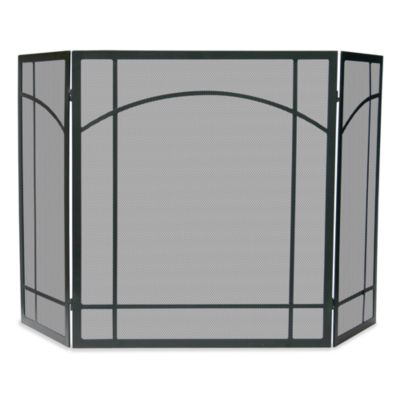 UniFlame® 3-Fold Mission Design Fireplace Screen in Black Wrought Iron - Buy Screens Fireplace From Bed Bath & Beyond