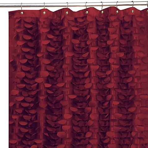 Gigi Burgundy 72-Inch x 72-Inch Fabric Shower Curtain - Gigi Burgundy 72-Inch X 72-Inch Fabric Shower Curtain - Bed Bath