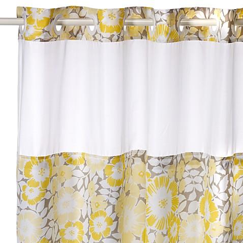 fan floral hookless shower curtain bed bath beyond. Black Bedroom Furniture Sets. Home Design Ideas