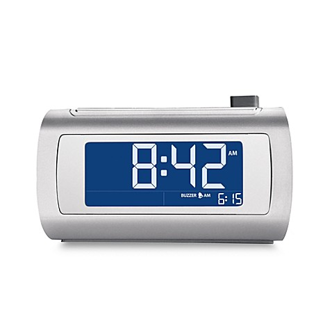 brookstone timesmart self setting alarm clock bed bath beyond rh bedbathandbeyond com