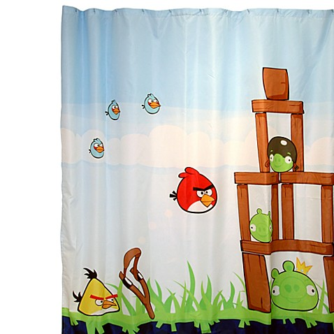 Curtains Ideas bird shower curtain : Angry Birds™ 72-Inch x 72-Inch Fabric Shower Curtain - Bed Bath ...