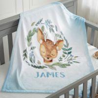 Woodland Deer Fleece Baby Blanket