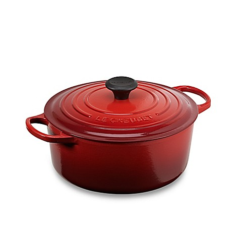 buy le creuset signature 5 5 qt round french oven in cherry from bed bath beyond. Black Bedroom Furniture Sets. Home Design Ideas