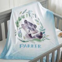 Woodland Fox Fleece Baby Blanket