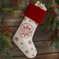 Stamped Snowflake Christmas Stocking