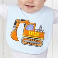 Construction Trucks Baby Bib