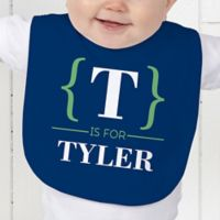 Name Bracket Baby Bib