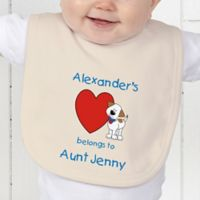 Puppy Heart Belongs Baby Bib