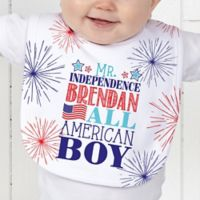 Red, White and Blue Baby Bib