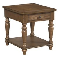 Palmetto Home Side Accent Table in Brown