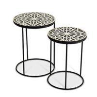 Steve Silver Co. Amisha Nesting Tables in Black/White (Set of 2)