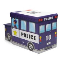 Mind Reader Police Car Kid's Stool/Chair Toy Box