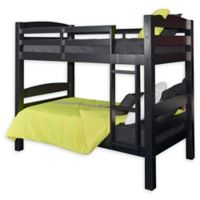 Levi Twin Over Twin Bunk Bed in Black