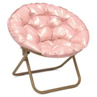 saucer chair moon chairs folding plush gold rose teens lounge metallic dorm furniture bath beyond bed bean truegether user bedbathandbeyond