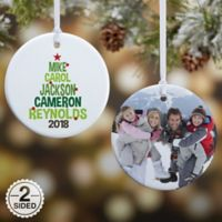 Christmas Family Tree 2-Sided Glossy Christmas Ornament