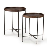 Steve Silver Co. Capri Wooden Round Accent Tables (Set of 2)