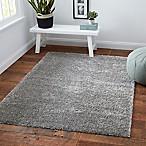 Norway Shag 6'6 x 9' Area Rug in Grey