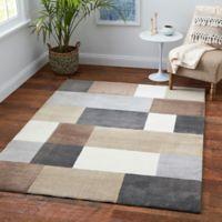 Medley Blocks 9'2 x 12' Multicolor Area Rug