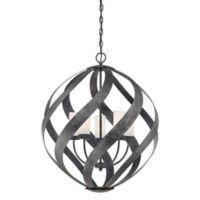 Quoizel® Blacksmith 5-Light Pendant Light in Old Black
