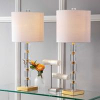 """JONATHAN Y Claire 28.5"""" Crystal LED Table Lamp (Set 2)"""