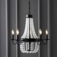 "JONATHAN Y 5-Light 21"" Acrylic Beaded LED Chandelier in Bronze"