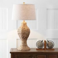 "JONATHAN Y Elicia 31"" Seagrass Weave LED Table Lamp in Natural"