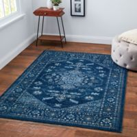 Chelsea Border 9' x 12' Area Rug in Blue