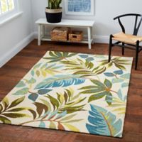 Blue Grass 5-Foot x 7-Foot Area Indoor/Outdoor Rug in Ivory/Multi