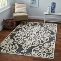 Safavieh Paradise Collection Venetian Damask Rug in Stone Anthracite