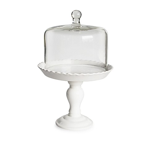 American Atelier Bianca Pedestal Cake Plate with Glass Dome  sc 1 st  Bed Bath u0026 Beyond & American Atelier Bianca Pedestal Cake Plate with Glass Dome - Bed ...