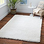 "Carpet Art Deco Supreme 5'3"" x 7'5"" Microfiber Shag Area Rug in Natural"