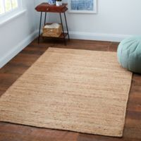 Fireside Jute Woven Braid 8-Foot x 10-Foot Area Rug in Natural