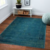 Safavieh Vintage Palace 3-Foot 4-Inch x 4-Foot 7-Inch Accent Rug in Turquoise