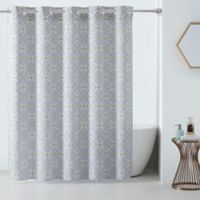 HooklessR 3 In 1 Vervian Shower Curtain Yellow Grey