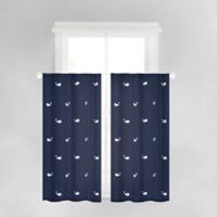 Anchors Away 45-Inch Bath Window Curtain Panel in Navy