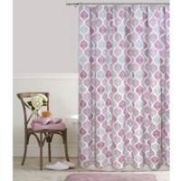 Priya 72-Inch Square Shower Curtain in Plum