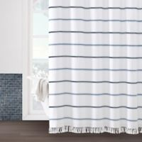 Naomi 72-Inch x 84-Inch Shower Curtain in White