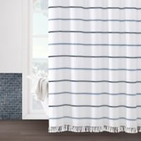Naomi 72-Inch x 96-Inch Shower Curtain in White
